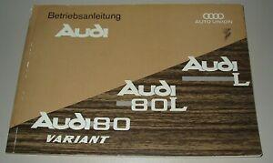 Betriebsanleitung Audi 80 / 80 L / L 80 Variant Typ F 103 Buch Januar 1968!