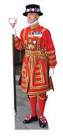 BEEFEATER LIFESIZE CARDBOARD CUTOUT STANDEE STANDUP Diamond Jubilee Yeoman Royal