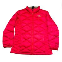 The North Face Girls Pink Puffer 550 Jacket Coat Size XL 18