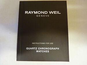 Raymond Weil Quartz Chronograph Watches - Instruction Manual