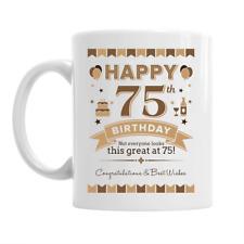 75th Birthday Happy Gift Present Idea For Men Dad Male Keepsake 75 Coffee Mug