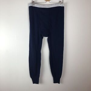 Duofold Navy Blue Thermal Long Underwear Base Layer Bottoms Mens L Large
