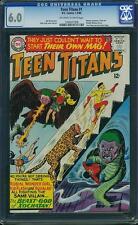 Teen Titans #1 CGC 6.0 1966 Batman Aquaman Flash Wonder Woman JLA E8 128 cm