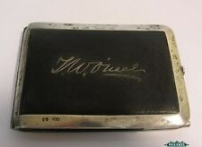 Victorian Sterling Silver & Leather Aide Memoire Notepad Henry W Dee London 1875