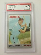 1970 Topps Baseball Angels Jim Spencer #255 PSA Graded 8 NM-MT