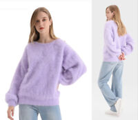 LILA FLIEDER 10 colors ANGORA WOLLE PULLOVER WOOL JUMPER SWEATER MINK CASHMERE