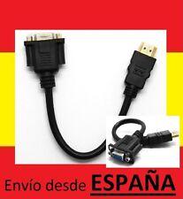 Cable VGA hembra a HDMI macho adaptador salida video RCA tv ordenador pc HDTV AV
