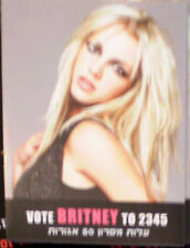 BRITNEY SPEARS   ISRAEL HEBREW STICKER