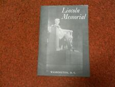 VINTAGE LINCOLN MEMORIAL 1964 DEPT. OF THE INTERIOR BOOKLET BROCHURE