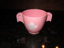 Fisher Price Fun with Food Drink Vintage Pink Tea Set Sugar Flower Bowl Cup Part