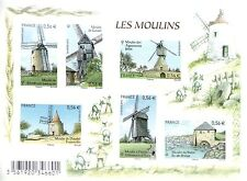 FEUILLET F4485 NEUF XX  LUXE - LES MOULINS
