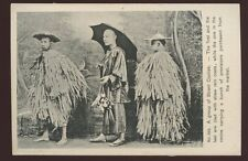 HONG KONG Street Coolies early PPC straw rain coats