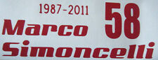 MARCO SIMONCELLI 58 VINYL CAR, MOTORBIKE MOTO GP TRIBUTE DECAL STICKER  FREEPOST