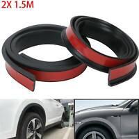 Universal Car Wheel Arch Trim Fender Flares Protection Strip Rubber 150*3.8cm