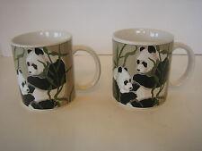 Pair Of Tom Taylor Gift Of Nature Panda Panda Mugs Otagiri Japan