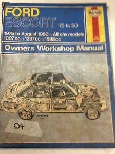 Haynes Manual Used Ford Escort 1975-1980