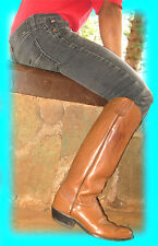 TALL OLATHE (KANSAS) COWBOY POLO BOOTS! CUSTOM-ORDERED. HARRY'S FAVORITE! size 9