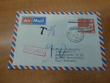 Malta 1988 8c Airplane A/M cover, taxed to Germany (61bed)