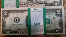 ✯Rare✯ New Uncirculated Consecutive Two Dollar Bills Crisp $2 Note 2013 ✯