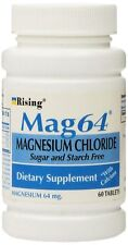 NEW MAG 64 MAGNESIUM CHLORIDE WITH CALCIUM 60 TABLETS (5 Bottles = 300 Tablets)