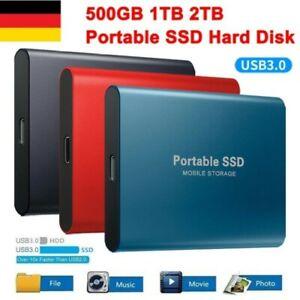 1TB 2TB externe SSD Festplatte USB 3.0 Mini Tragbare Mobile Solid State Drive DE