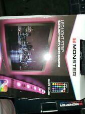 2 Monster Color Changing USB LED Light Strips - 6.5ft Each, Multicolor