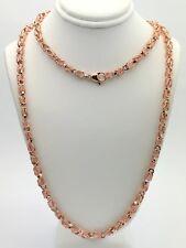 "Men's Solid 10K Rose Gold 30"" Turkish Link Chain Necklace 5 mm - 47.5 grams"