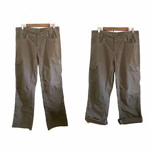 Kuhl Womens Convertible Splash Green Pockets Utility Hiking Pants/Capris Size 12