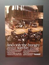 Vintage 1987 Kawasaki KZ305 ZL600 454 LTD - Full Page Color Ad