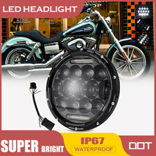 "7"" 75W Motorcycle Round Projector Headlamp DRL LED Headlight for Harley Davidson"