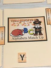 Thanksgiving -  File Folder Game  - Activity Set - Alphabet Match Up