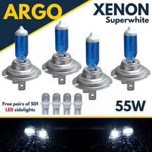 H7 55w Headlight Bulbs Xenon Super White Bright T10 Side Light Led Car Bulb 4x