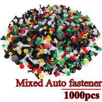 1000Pcs Rivets Fixation Clips Plastique Pare-chocs Pare-boue Porte Voiture Auto