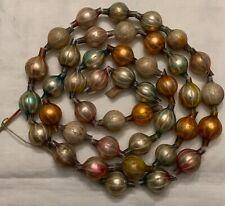 Rare! Antique German Fadenglas Art Glass Bead Garland - Pastels!