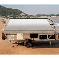 ALEKO 15'X8' Retractable RV or Home Patio Canopy Awning Grey Fade Color