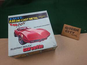 Ertl 1/25 scale die cast metal blueprint series 1978 Chevy Corvette #8102