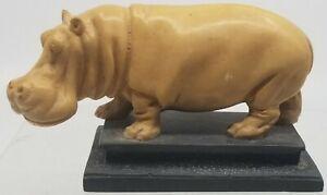 AFRICAN Hippopotamus HIPPO A Santini Italian CLASSIC FIGURE Sculpture AFRICA