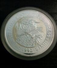 1992 kookaburra silver bullion coin 10 oz Perthmint 999