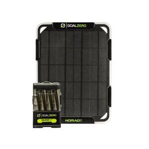 GOAL ZERO NOMAD 5 + GUIDE 12 5 WATT SOLAR CHARGING KIT Solar Panel Power Bank
