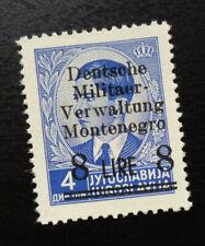 Montenegro c1942 Germany Italy WWII Ovp. Yugoslavia Stamp NG 8 Lire  C2