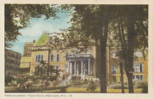 Palais de Justice Court House SHERBROOKE Quebec Canada 1940s Carte Postale PECO