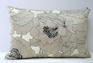 John Lewis Atulya Poppy Flower Fabric Cushion Cover Double Sided Neutral Tones