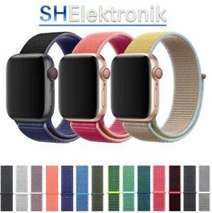 Für Apple Watch iWatch Armband Nylon Series 2 / 3 / 4 / 5 / 6 38/40/42/44 Ersatz