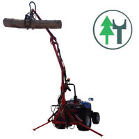 Ladekran FK4M Forstkran mit Rotator und Holzgreifer Rückezange für Traktoranbau