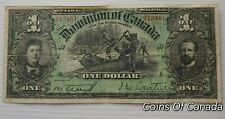 1897 Dominion Of Canada $1 DC-12 - ULTRA RARE Very Nice Banknote  #coinsofcanada