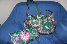 Oilily Baby Bag Girls Green Pink Used Large