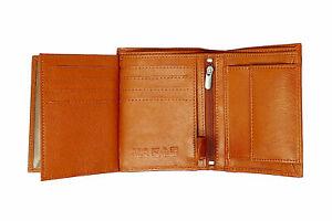 Mens RFID BLOCKING Real Leather Wallet Credit Card Holder, Change Purse 503 TAN