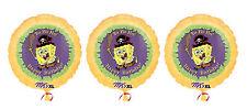 3 SpongeBob SquareP ants - Pirate Happy Birthday Mylar Balloons