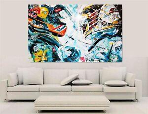 F1 Canvas Wall Art - Hamilton Vs Verstappen
