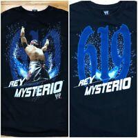 Vintage WWF Rey Mysterio 619 T SHIRT WWE  Wrestling Rap Tees wrestler Mens L